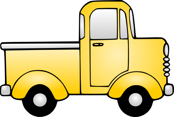 Pickup clipart yellow truck. Old clip art at