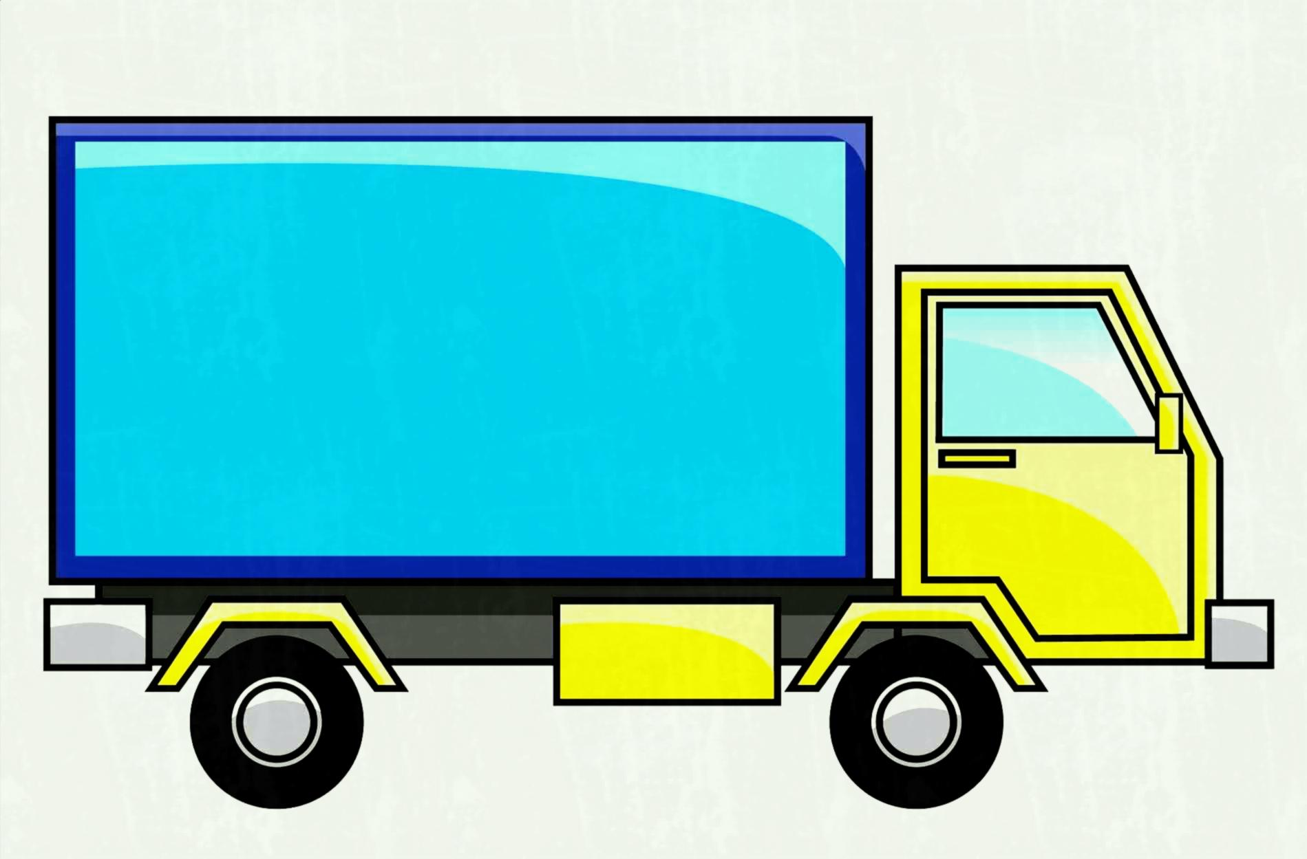 Truck clipart animated. Pencil and in color