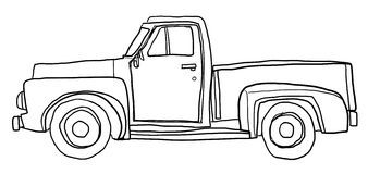 Truck clipart black and white. Image result for pickup