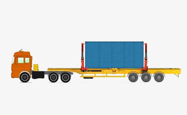 Truck clipart container truck. Large loading and unloading