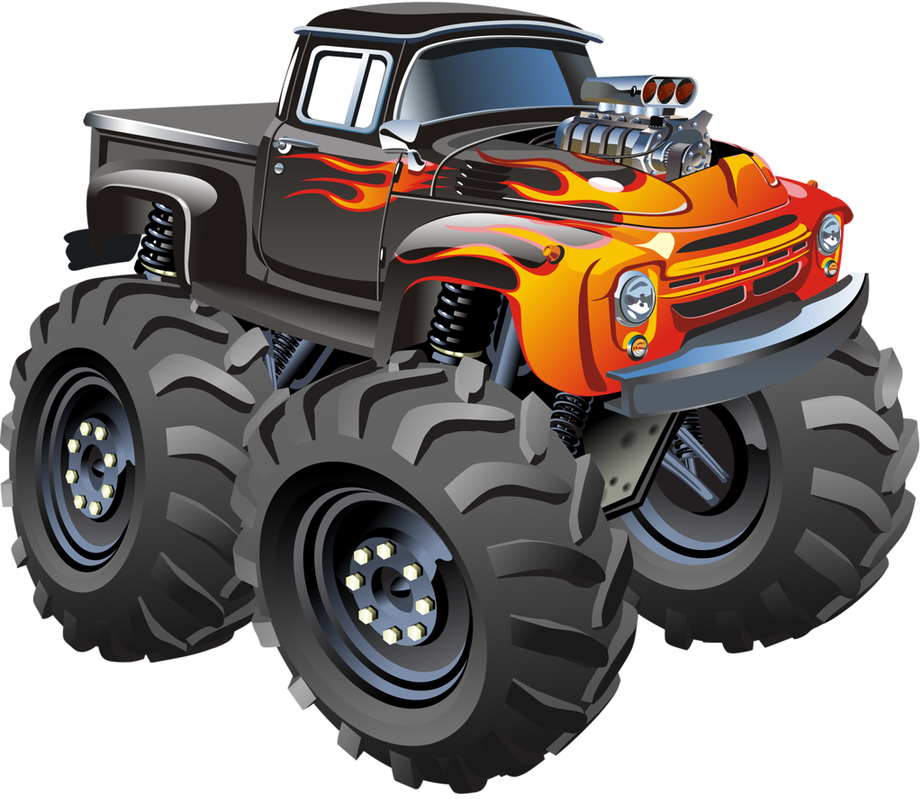 Truck clipart diggers. Monster grave digger