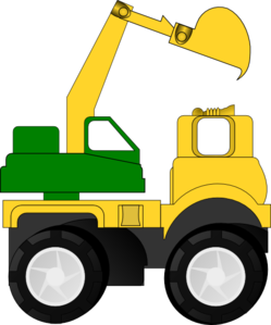 Bulldozer svg cartoon. Digger truck clipart alternative