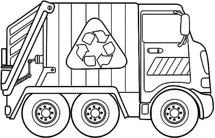 Truck clipart garbage truck. Black and white letters