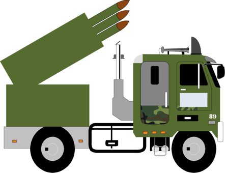 Truck clipart soldier. Missile car artillery military