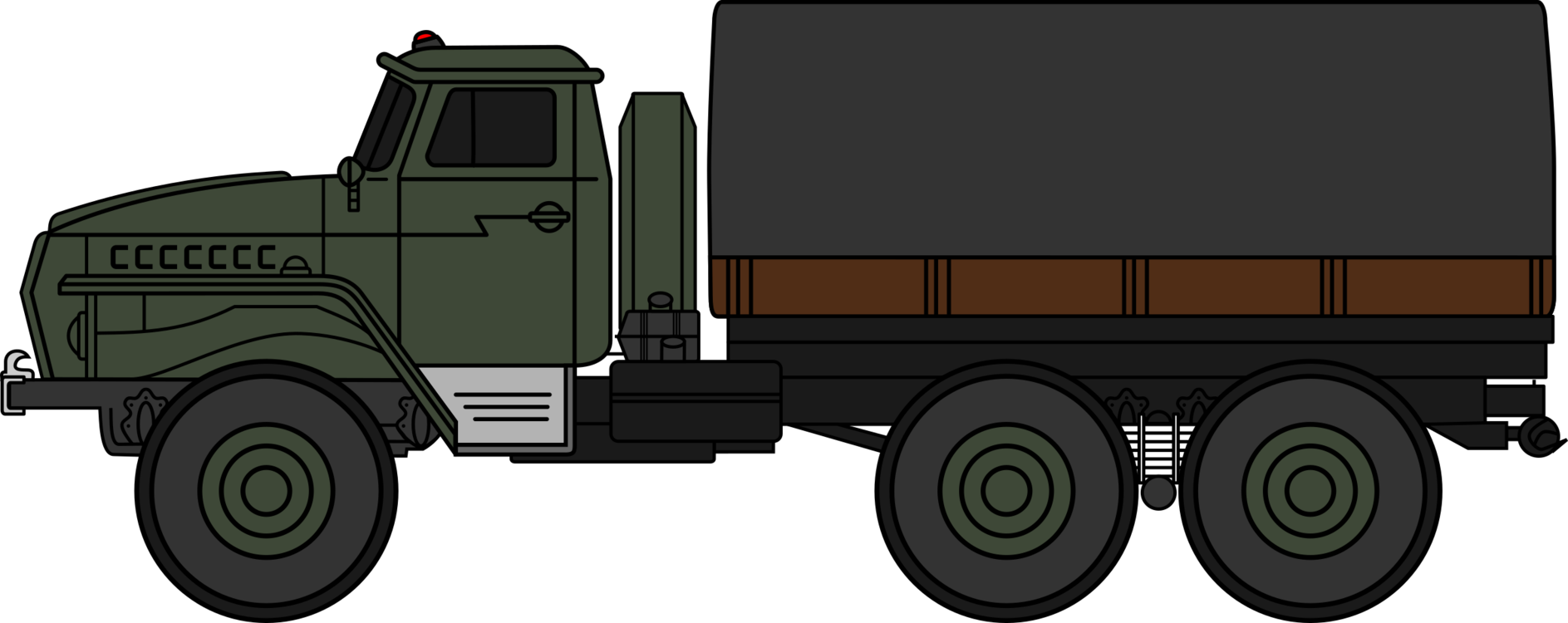 Truck clipart soldier. Ural car military vehicle