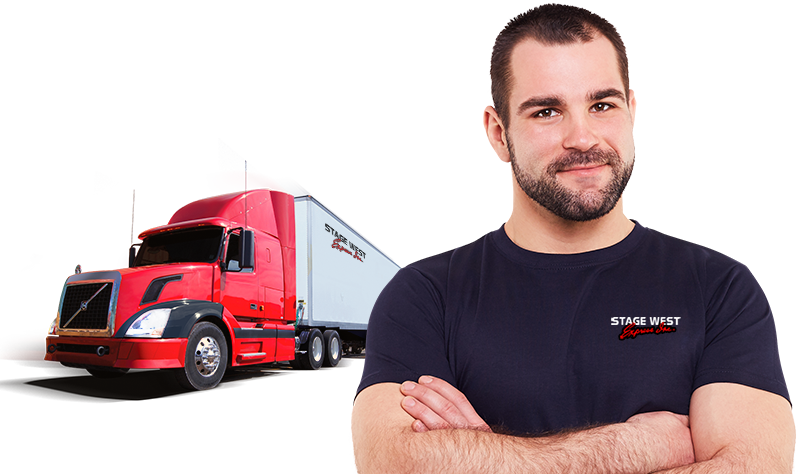 Truck driver png. Stage west express jobs