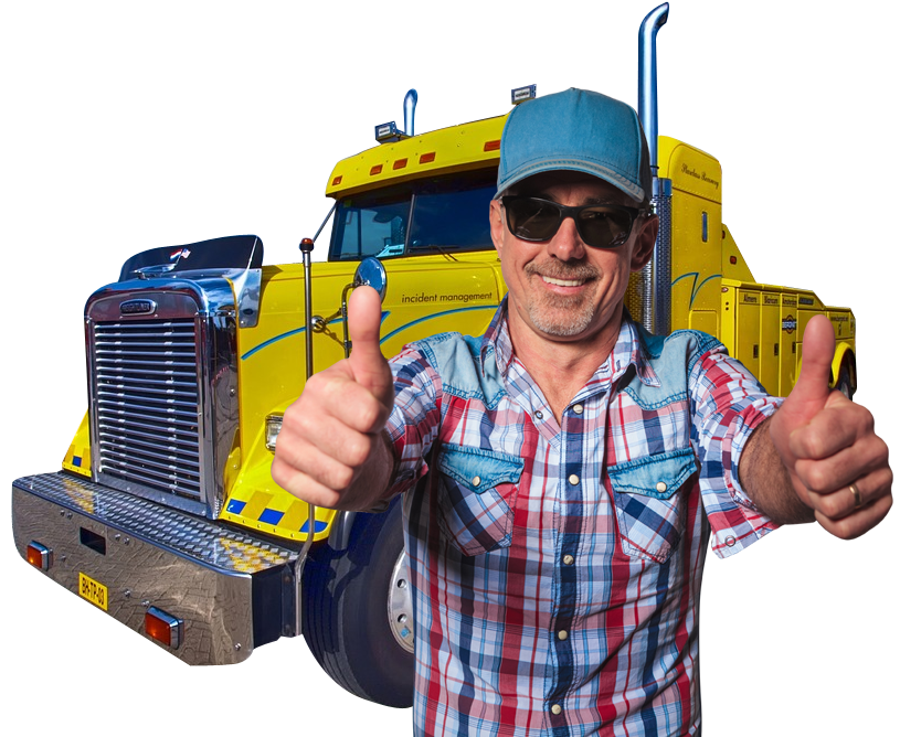 Truck driver png. Big rig insurance commercial