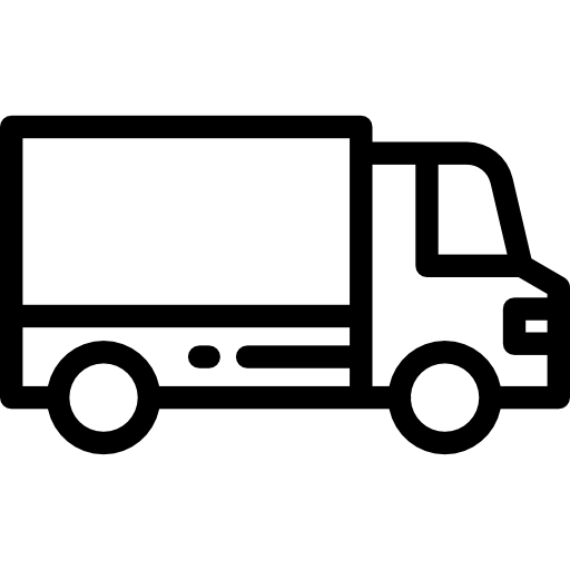 Delivery free transport icons. Truck icon png vector black and white library