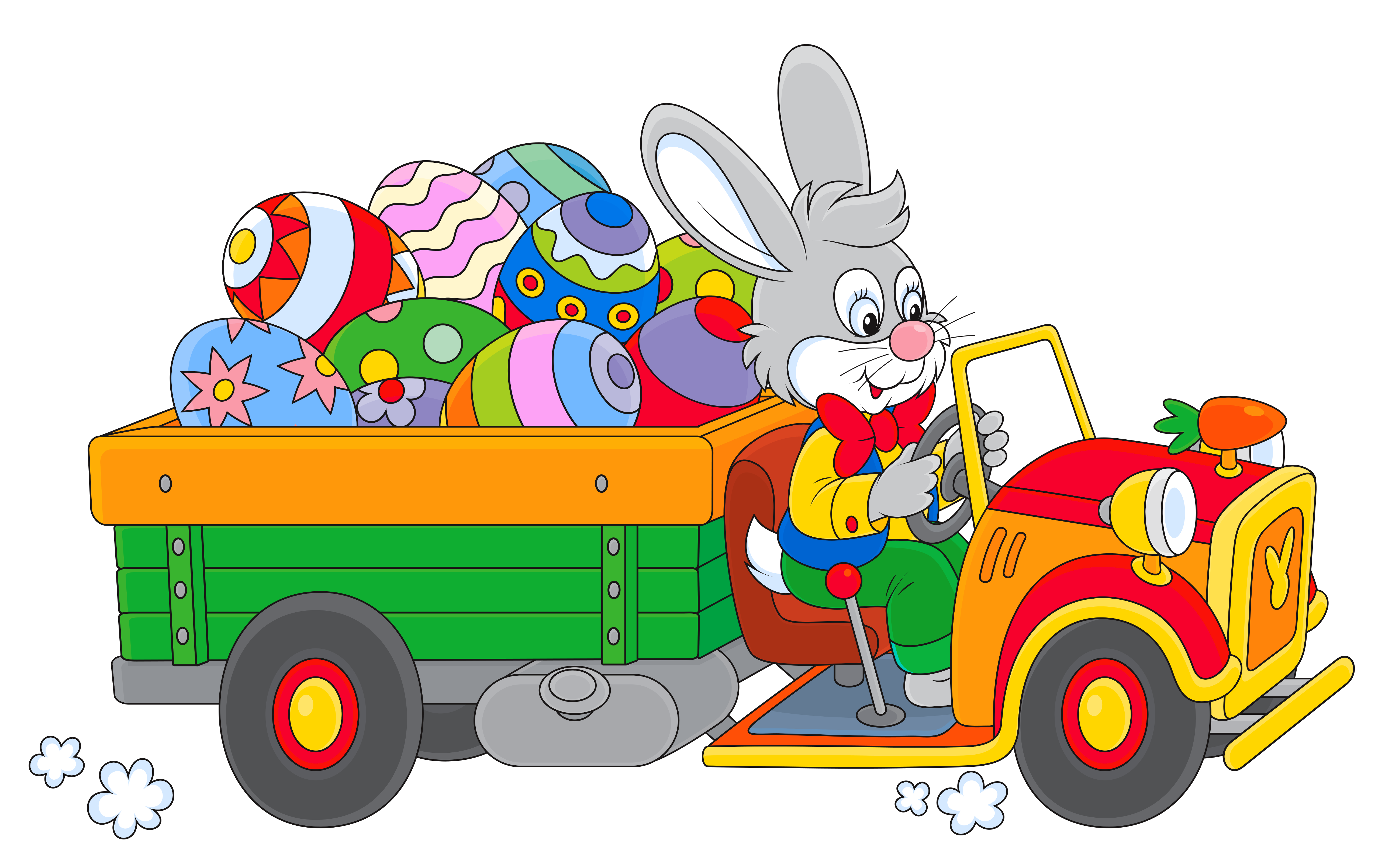 Truck png clipart. Easter bunny with egg