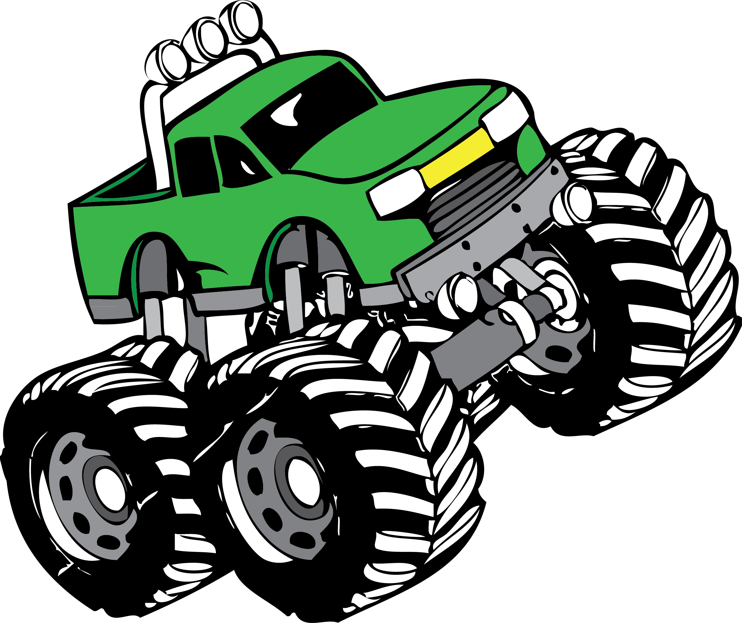 Monster truck clip art. Wheels clipart png black and white download