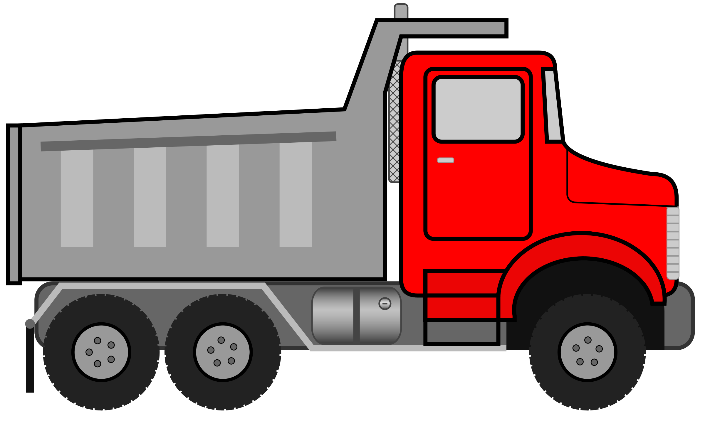 semi svg library. Dump clipart sand truck graphic free download