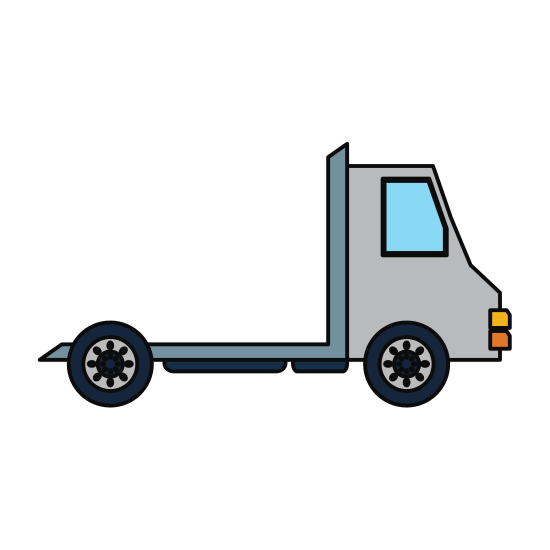 Truck transparent delivery. Vehicle icon icons by