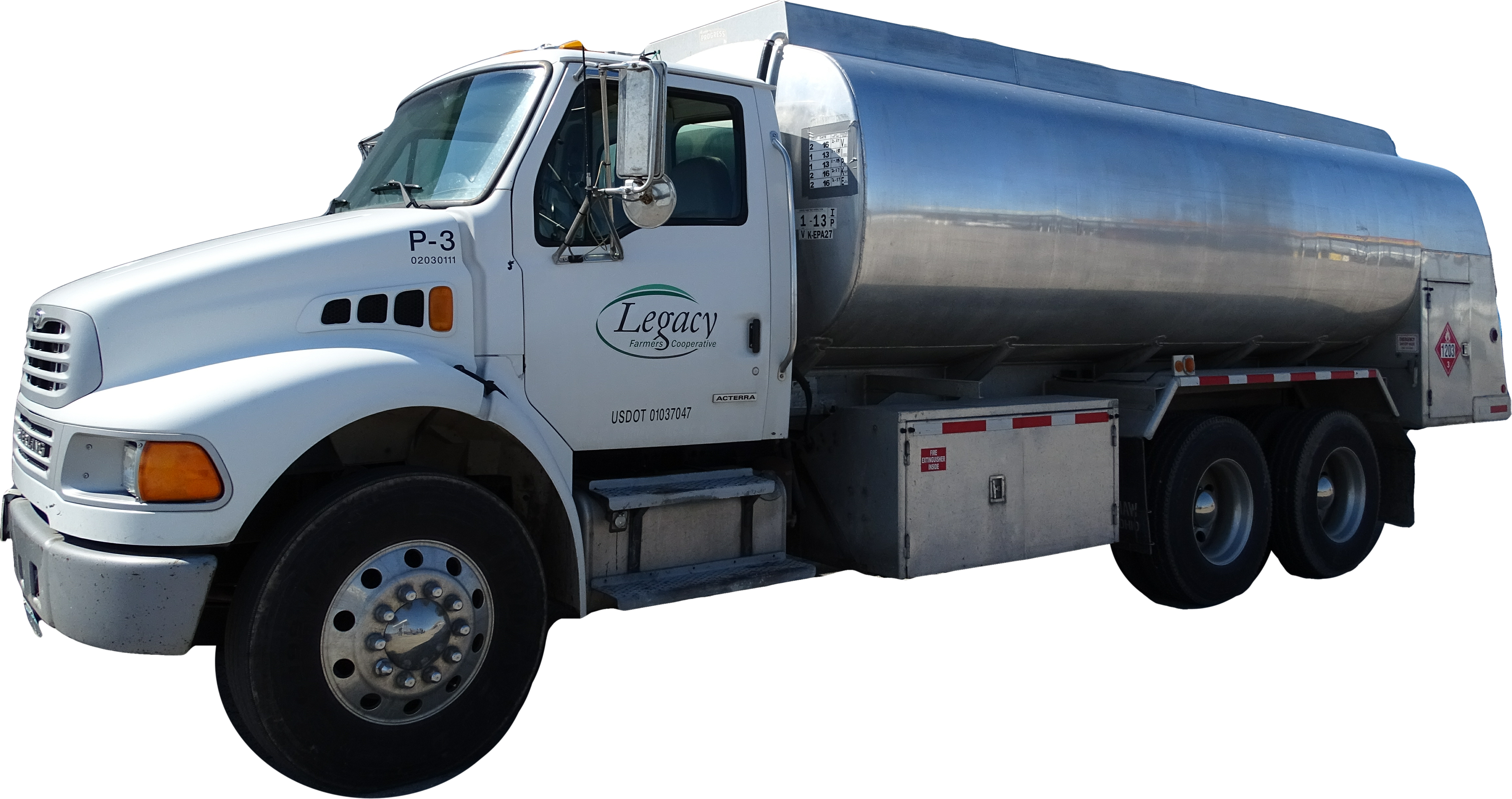 Truck transparent gas. Legacy farmers cooperative department