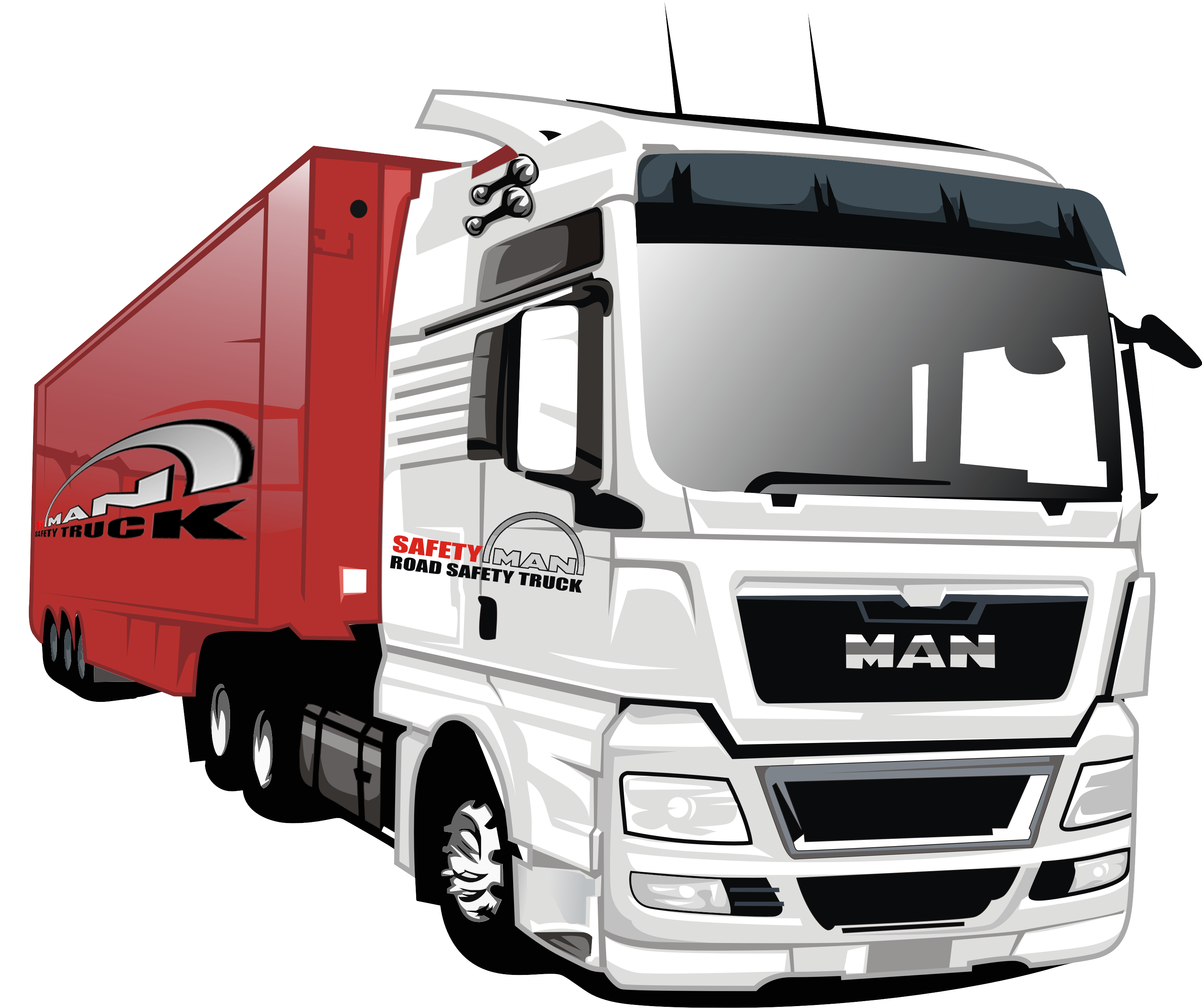 Truck vector png. Make cartoon style of