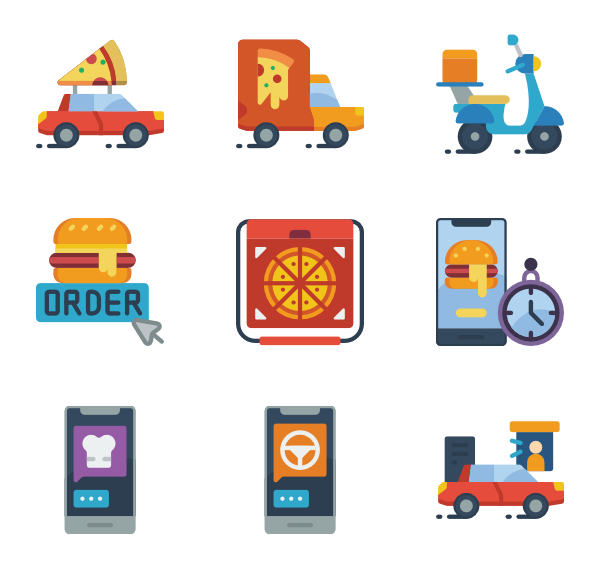 Trucking vector. Icon packs svg