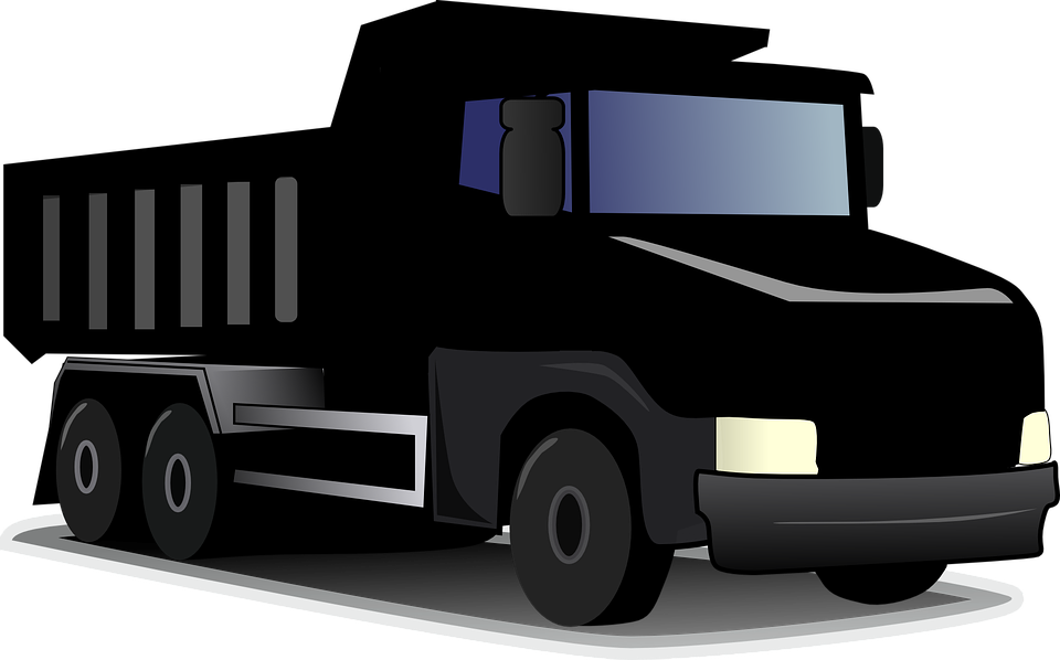 Trucking vector. Semi truck graphic