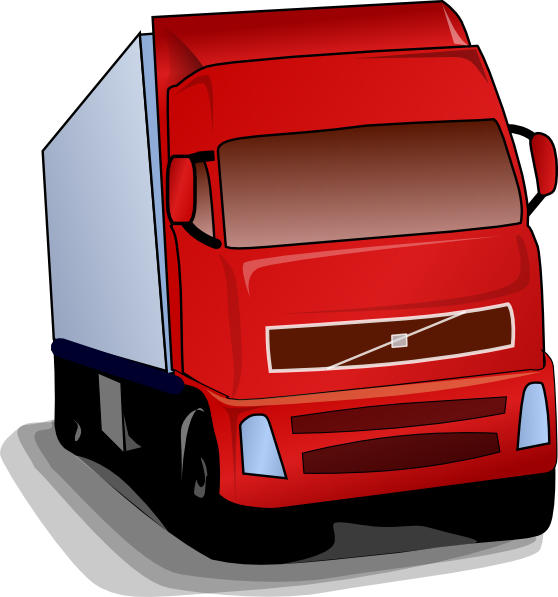 Wheeler clip art at. Trucking vector car truck picture royalty free