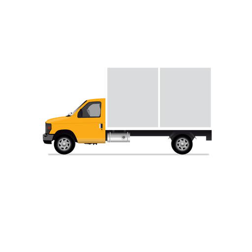 Trucking vector delivery truck. Covered van transparent png