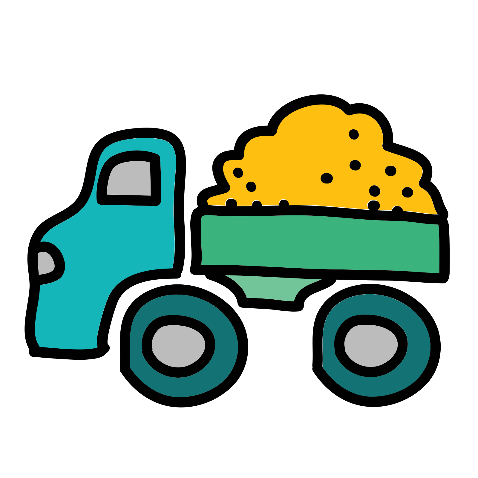 Trucking vector transportation truck. Container icon free download