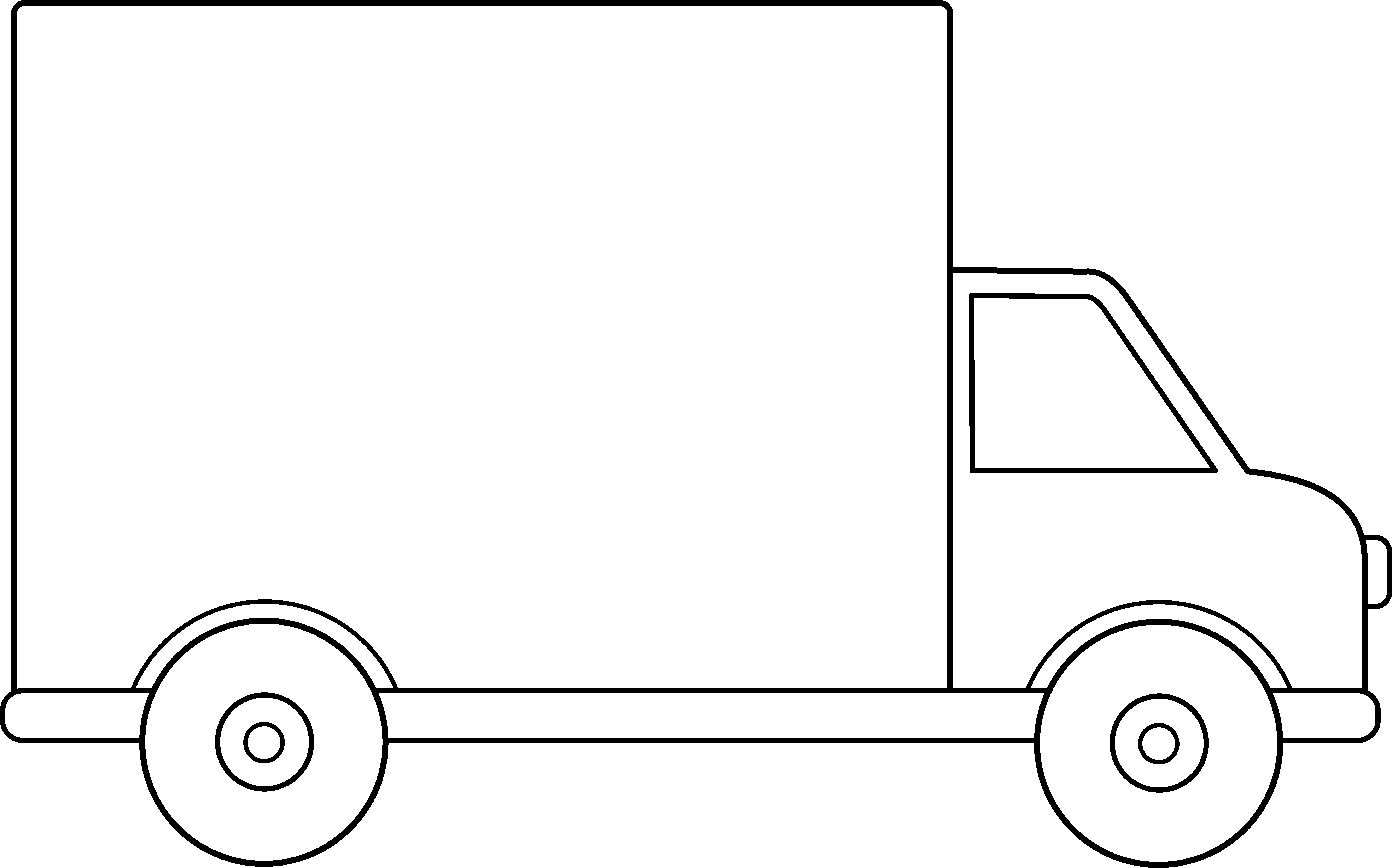 Trucking vector line art. Delivery truck free clip