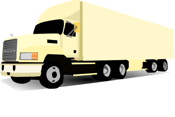 Trucking vector trailer truck. And clipart at getdrawings