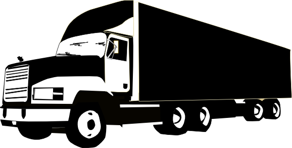 Trucking vector truck outline. Collection of freight