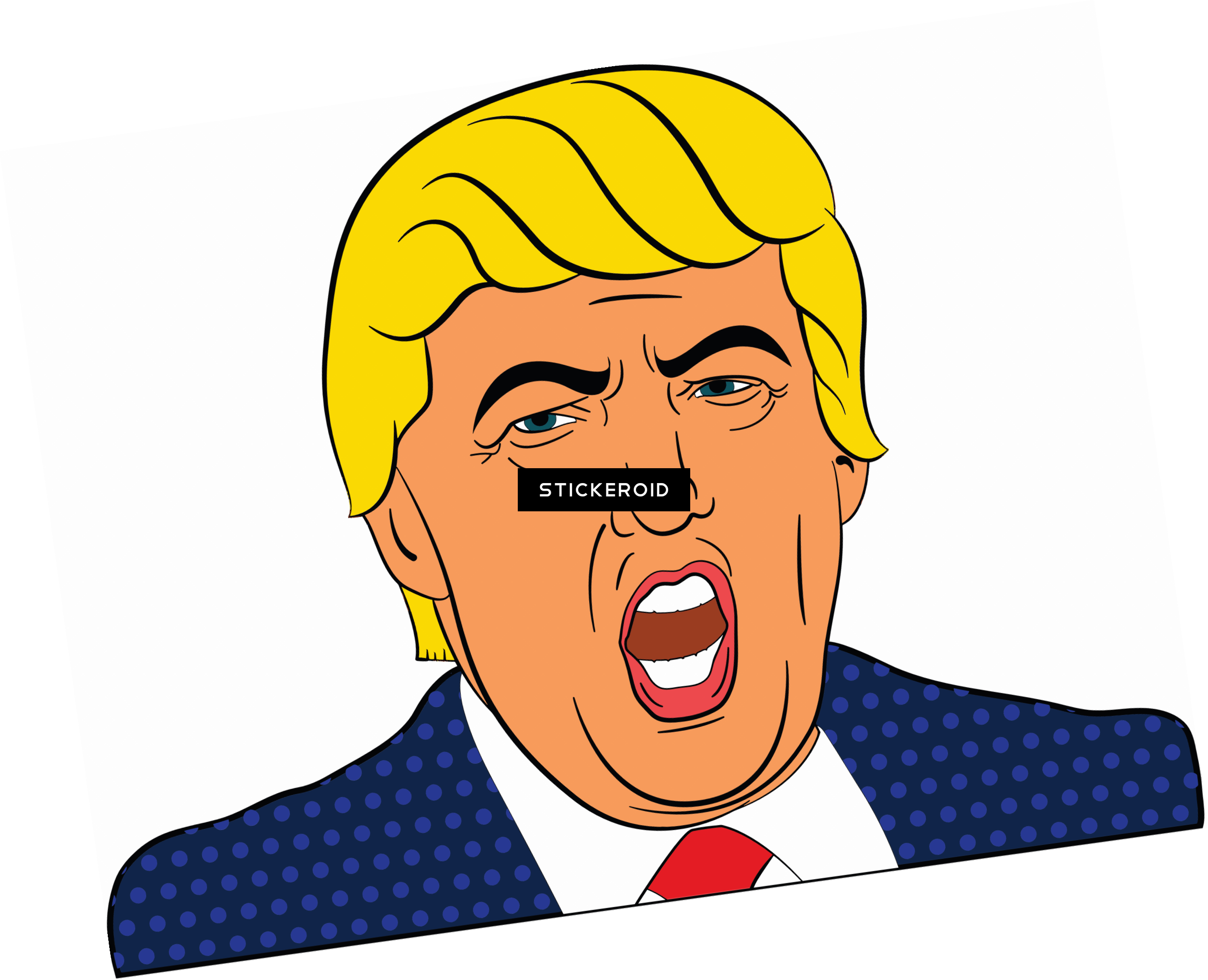 Trump clipart. Angry png