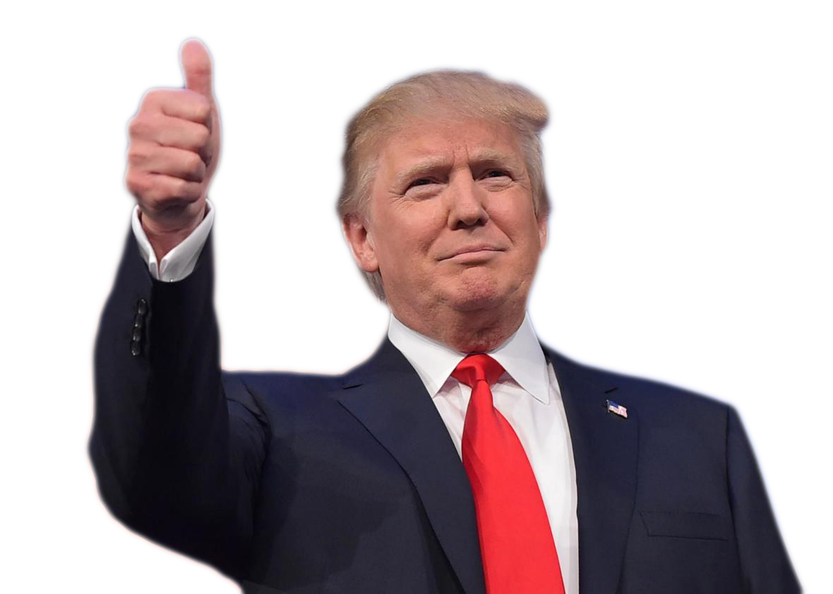 Trump clipart. Thumbs up ted campbell