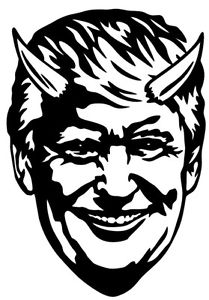 Donald devil face vinyl. Trump clipart decal graphic freeuse stock