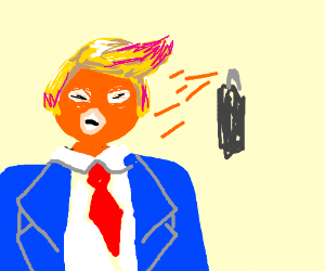 Trump clipart overload. With spray tan pink