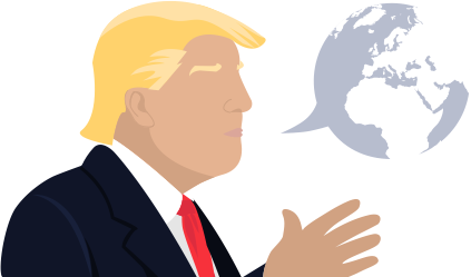 Trump clipart provocation. What has president said