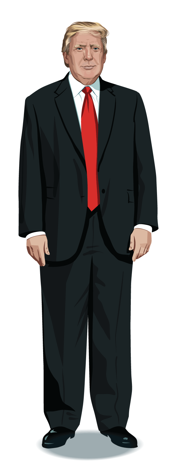Trump full body png. See how and clinton