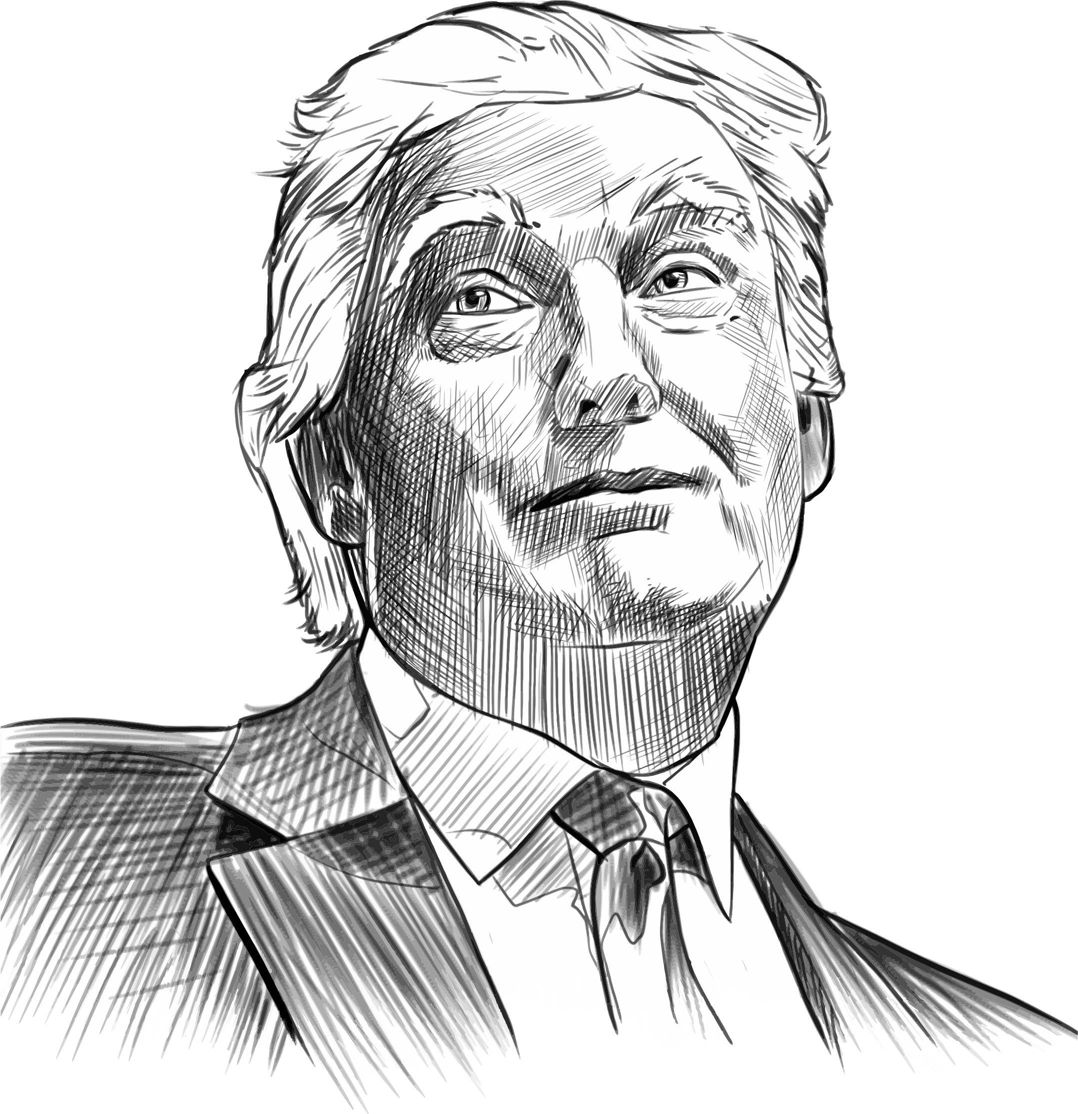 Trump hair .png. Donald sketch icons png
