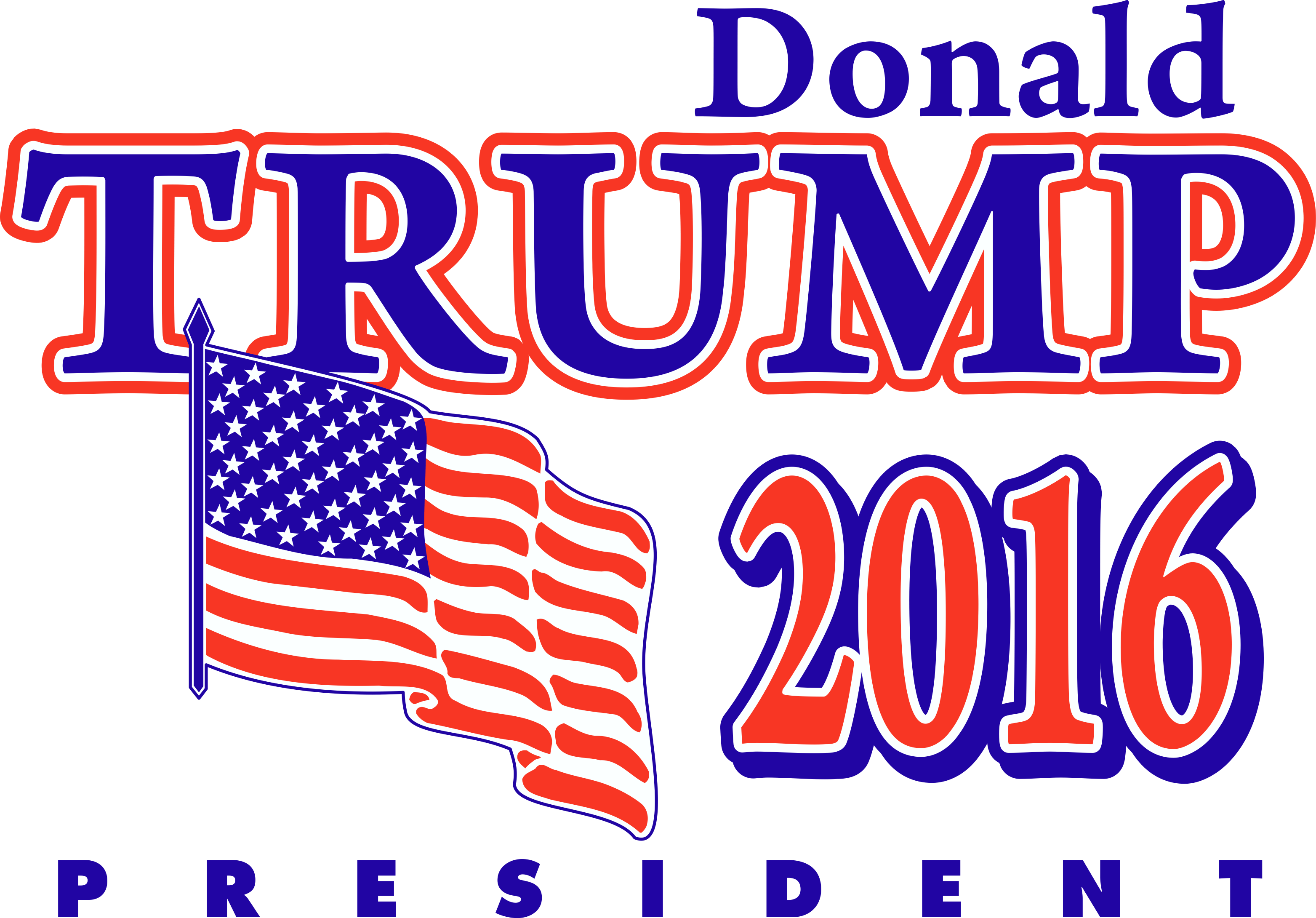 Trump logo png. Donald president transparent stickpng