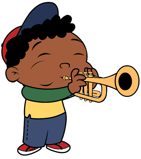 Trumpet boy png. St student comes