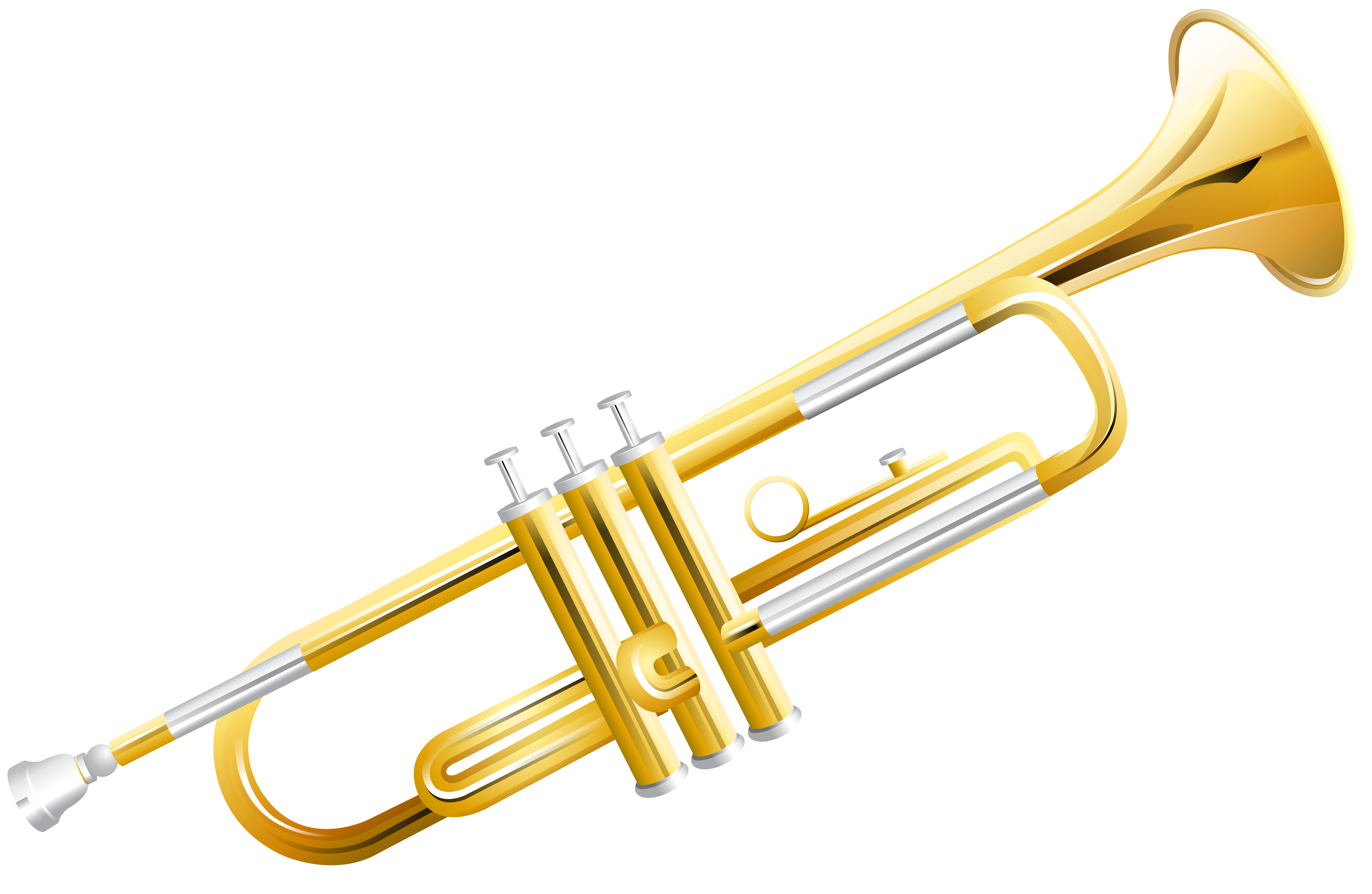 Transparent trumpet new year. Png clip art image