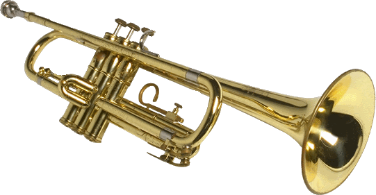 Transparent trumpet new year. Download free png image