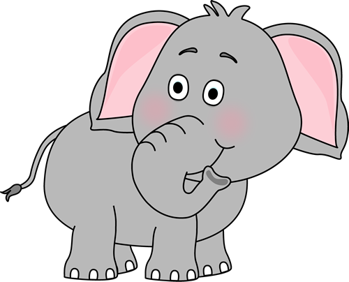 Trunk clipart nose. Cute baby elephant clip