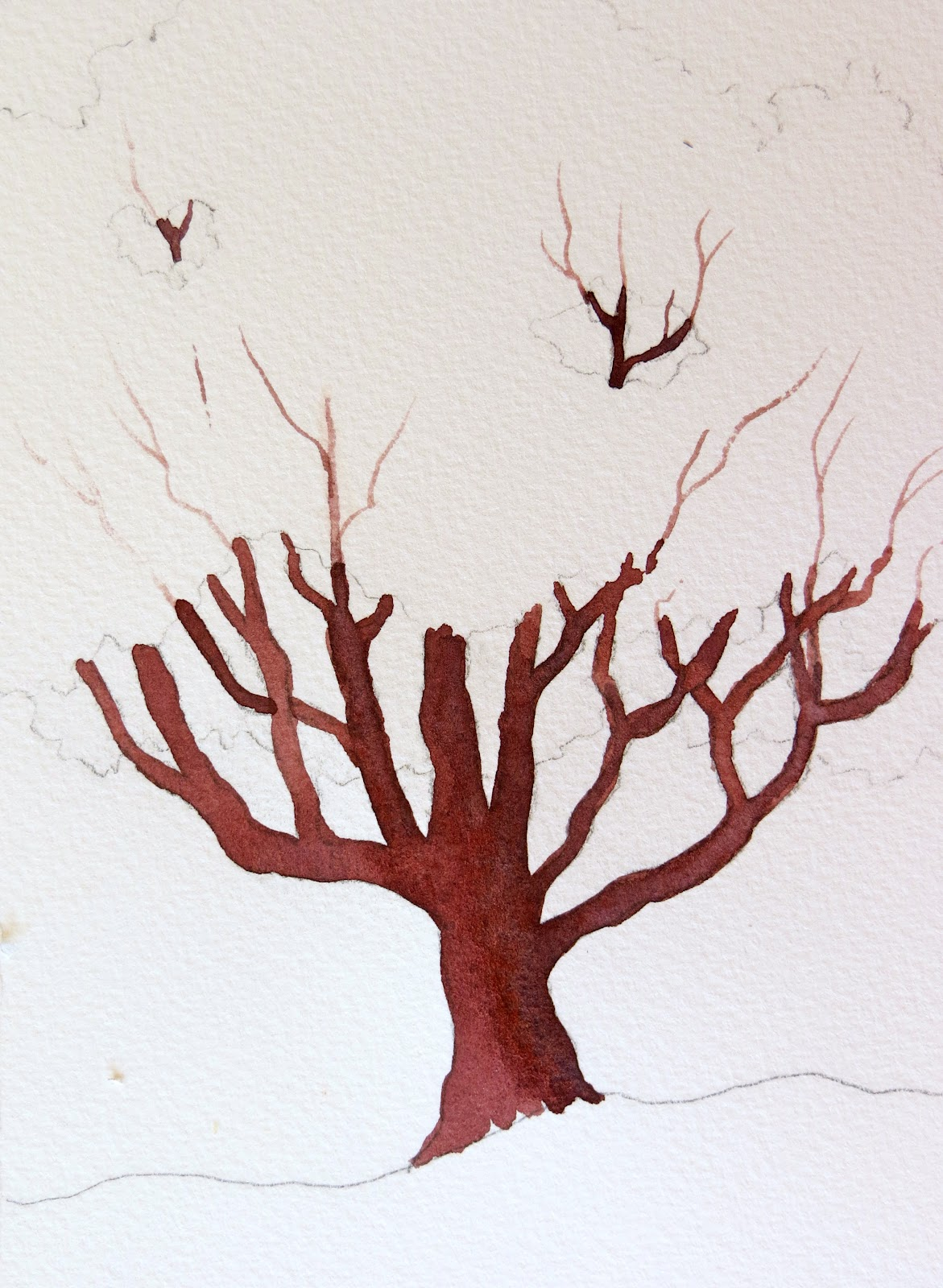 Trunk clipart watercolour tree. Basic drawing at getdrawings