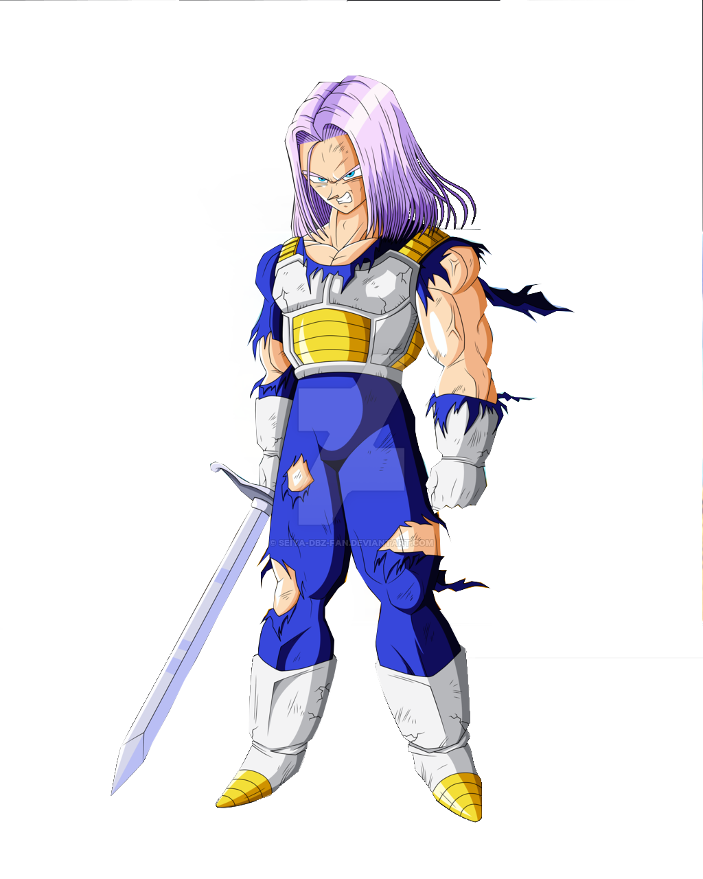 Trunks hair png. Image with his sword