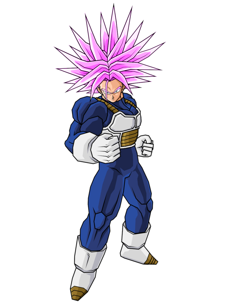 Trunks hair png. Super with pink by