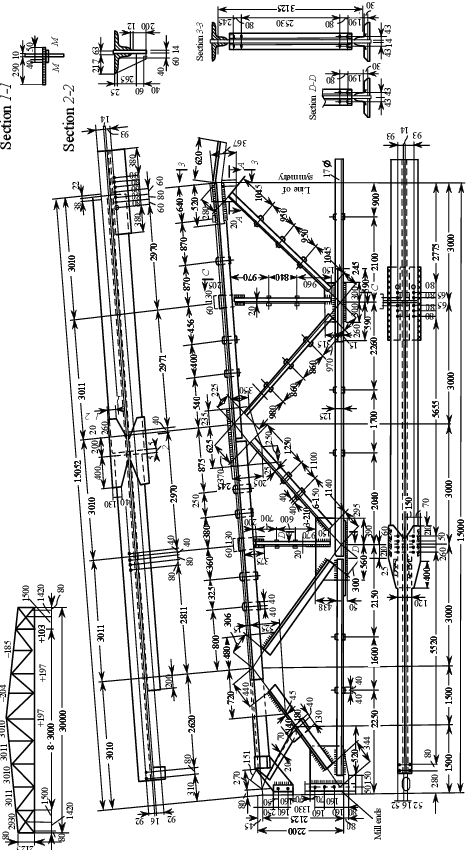 Truss drawing. Working of download scientific