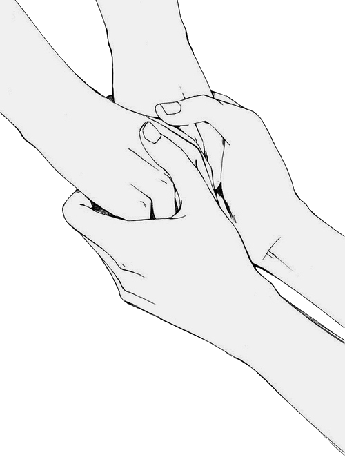 Fingers drawing love. I ll never let