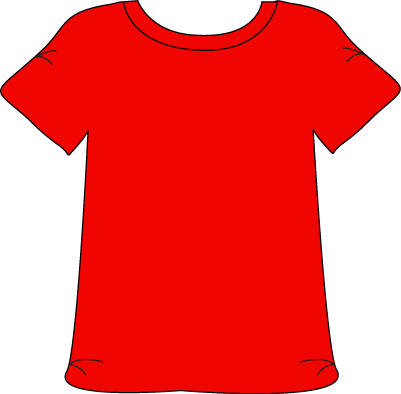 Tshirt cartoon png. Red printable magnets or