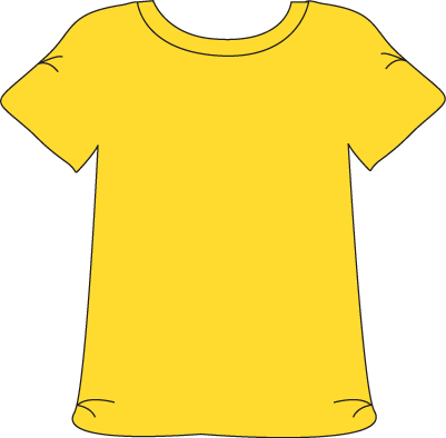 Yellow tshirt printable magnets. Frame clipart clothes clipart free