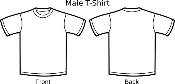 Polo drawing kaos. T shirt outline clip