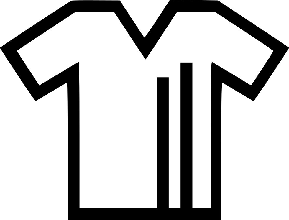 Tshirt clip svg. T shirt with lines