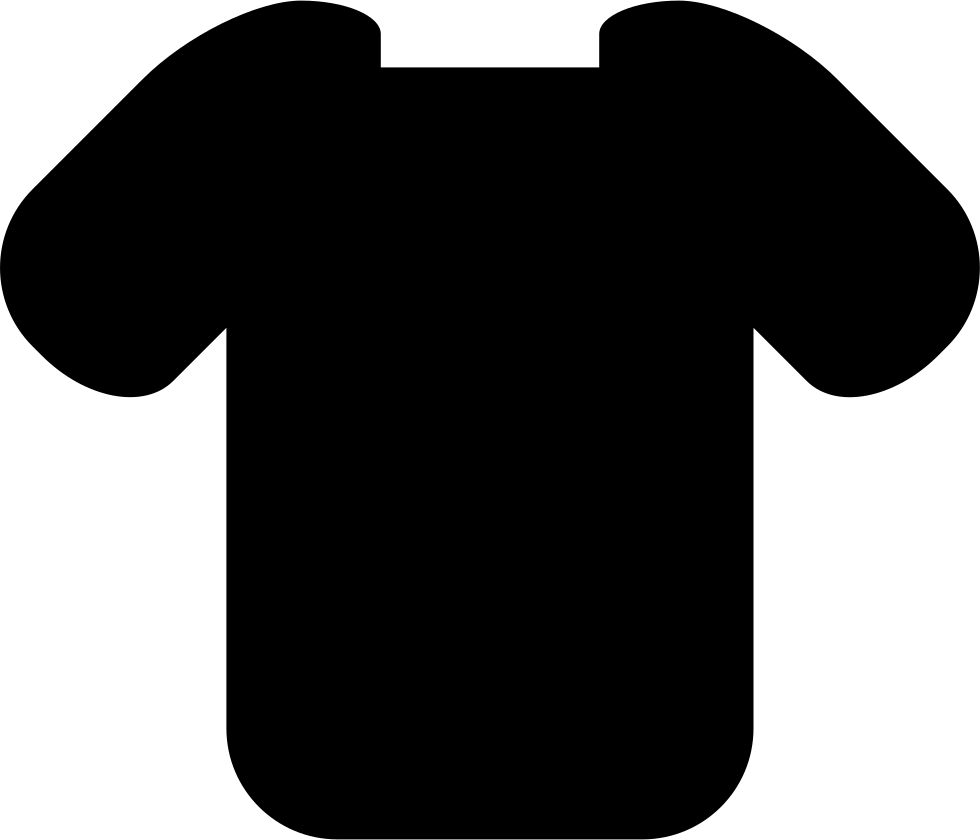 Tshirt clip svg. T shirt rectangular neck