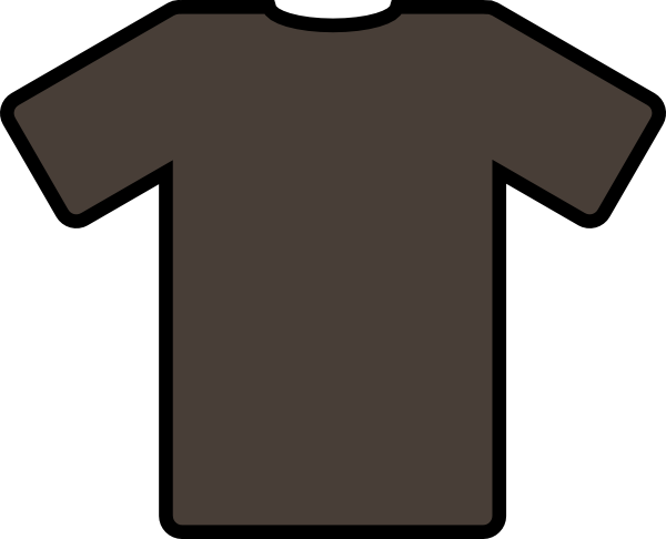 Tshirt clip svg. Brown t shirt art