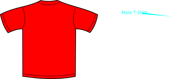 Vector shirts red. T shirt clip art